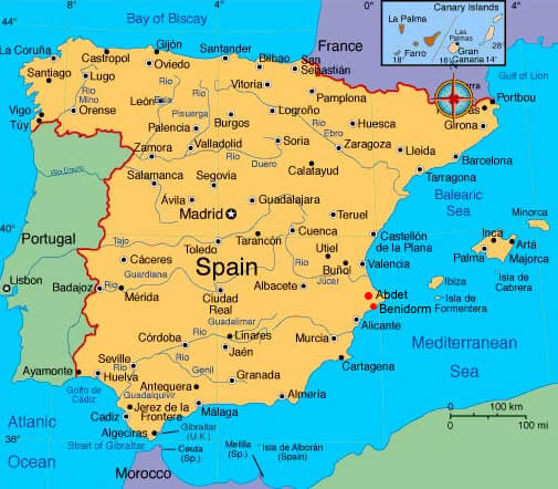 Languages In Spain Map.Map Of Spain Learning Languages With Expert Teachers Online